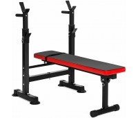 Best Choice Products Adjustable Folding Fitness Barbell Rack Weight Bench Gym